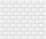 Vector white tile wall Stock Image