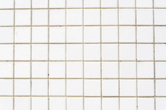 White tile wall background Stock Photography