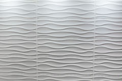 White tile wavy shape Royalty Free Stock Photography