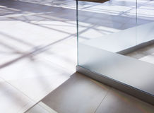 White tiled floor Royalty Free Stock Photography