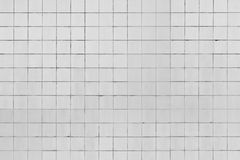 White tiled wall Stock Photography