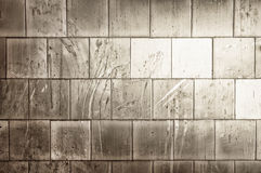 White tiles is dirty Royalty Free Stock Images