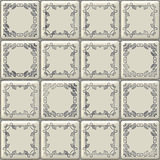 White tiles texture with geometric decoration Royalty Free Stock Photo