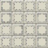 White tiles texture with geometric decoration Royalty Free Stock Photo