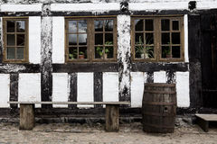 White timbered house Stock Photo