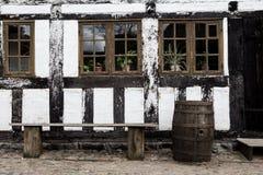 White timbered house Stock Photo