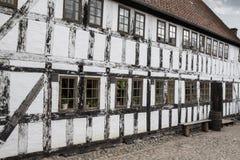White timbered house Royalty Free Stock Photos