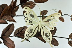 metal butterfly decoration Royalty Free Stock Images