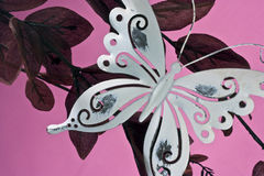 metal butterfly decoration Royalty Free Stock Photos