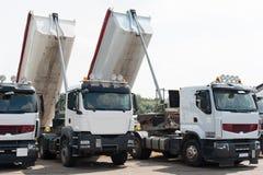 White tip lorries Royalty Free Stock Photo