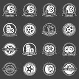White tire vector emblems or badges Stock Photo