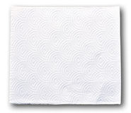 White tissue paper. On white background royalty free stock images