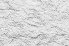 white Tissue surface of wrinkle or Crumpled. Royalty Free Stock Images