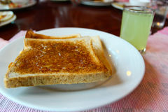 White toast with jam Stock Images