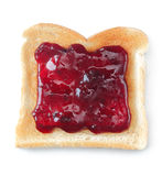 White toast and jam Stock Photography