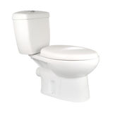 White toilet. Seat to a white background stock photos
