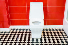 White toilet bowl Royalty Free Stock Photo