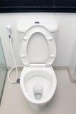 White toilet bowl Stock Images
