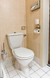 White toilet bowl Stock Images