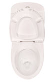 White toilet bowl  (Clipping path) Stock Images