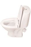 White toilet bowl  (Clipping path) Royalty Free Stock Images