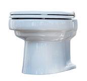 White toilet bowl. Isolated Royalty Free Stock Photo