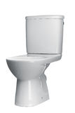 White toilet bowl isolated on a white background Stock Image