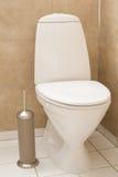 White toilet bowl in modern bathroom Royalty Free Stock Photo