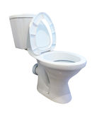 White toilet bowl over white backround Stock Photos