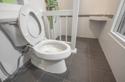 White toilet bowl Stock Photos