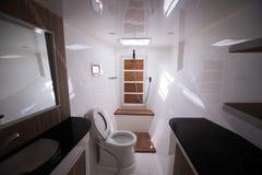 Free White Toilet Restroom Inside Yacht Cruise Windows Stock Photo - 138109930