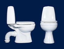 White toilet sanitary isolated Stock Images