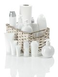 White Toiletries Stock Photography