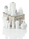 White toiletries Stock Photography