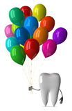 White tooth with balloons Royalty Free Stock Photo