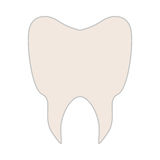 White tooth icon. Over white background. vector illustration Royalty Free Stock Images