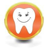 White Tooth Icon Stock Photo