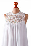 White top with lace insert. Royalty Free Stock Image