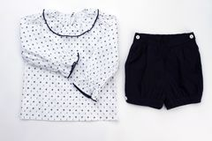 f2fb018bb5bc Sleepwear Set On White Background Stock Photo - Image of pants ...