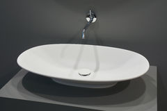 White top washbasin Royalty Free Stock Images