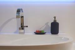 White top washbasin Stock Photo