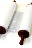 White Torah scroll Stock Photography