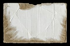 White torn corrugated cardboard Royalty Free Stock Photography