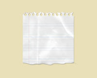 White Torn Lined Note Paper Stock Images