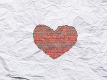 White torn paper in heart shape symbol Royalty Free Stock Images