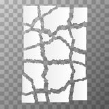 White torn paper pieces Royalty Free Stock Photography