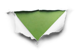 White torn paper with triangle shape Royalty Free Stock Photos