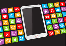 White touchscreen smartphone Royalty Free Stock Photo