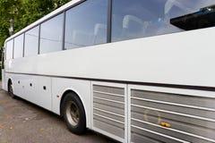 White tour bus Stock Photography