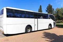 White Tour Bus Stock Photos